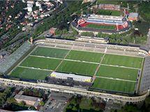 Strahovský stadion v Praze.