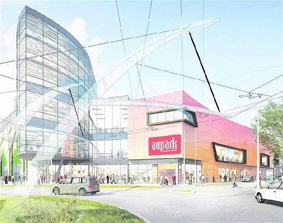 030ebc37db Pohled na plánované obchodní centrum Aupark Koruna je z roku 2010. Firma  zvažuje i jiné