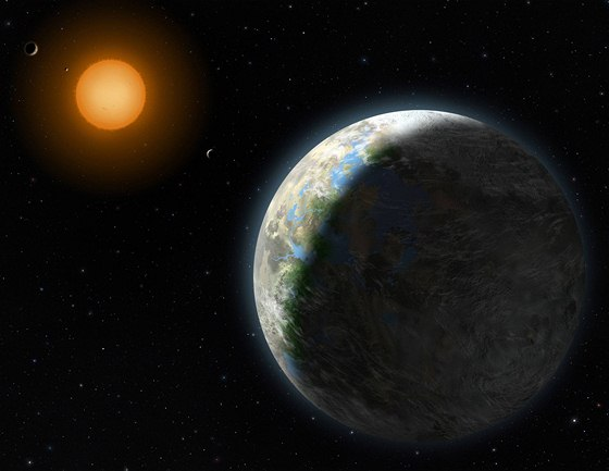 Exoplaneta Gliesse 581g - vizualizace National Science Foundation