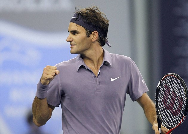 d6891eeab2f Tenis. A TEĎ FINÁLE. Roger Federer se v Šanghaji z postupu do finále.
