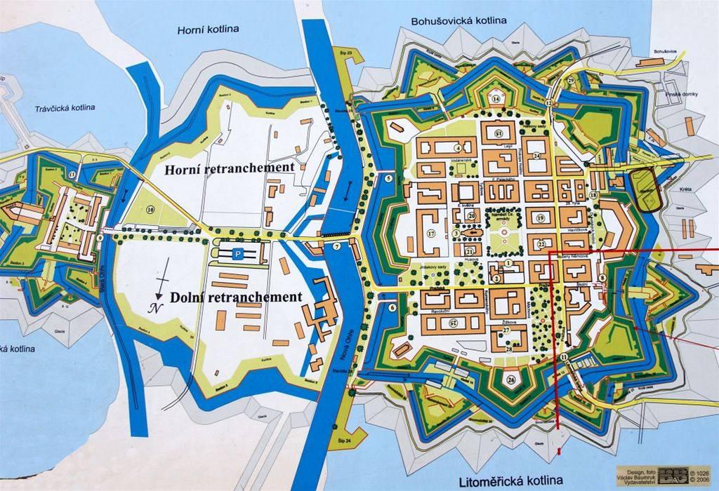 Mapa Terezin Mapa