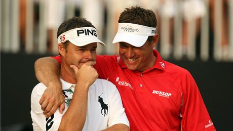 Lee Westwood a jeho caddie Billy Foster