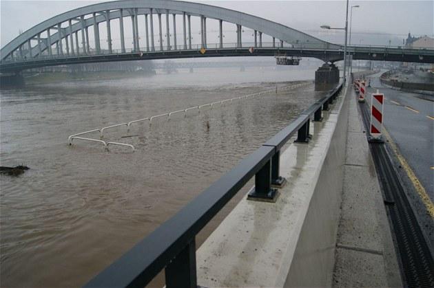 Policisté se vrhli do ledové řeky, zachránili ženu, která skočila z mostu