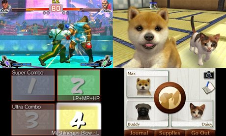 Street Fighter a Nintendogs na konzoli 3DS