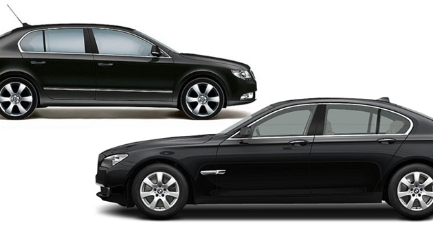 Škoda Superb a BMW 7