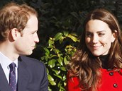 Kate Middletonová a princ William. (25. února 2011)