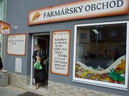 První kamenný farmářský obchod v Plzni na Slovanech.