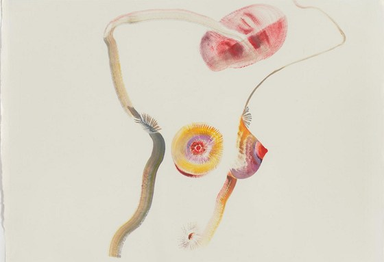Veronika Holcová: from the series Diary Records, 1997-2011, oil on paper, 42 x 29 cm resp. 29 x 42 cm