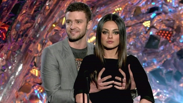 Justin Timberlake a Mila Kunisová na MTV Movie Awards Show