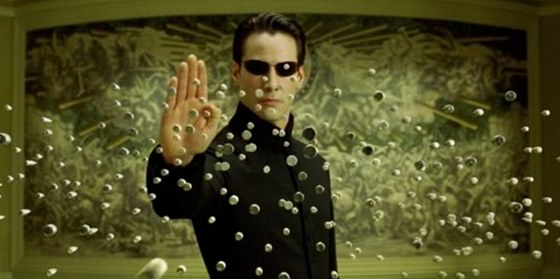 Z filmu Matrix Reloaded - Keanu Reeves jako Neo