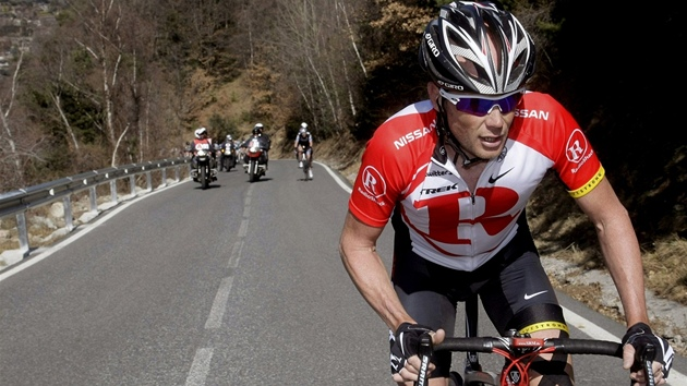 Christopher Horner na trati Vuelty 2010.