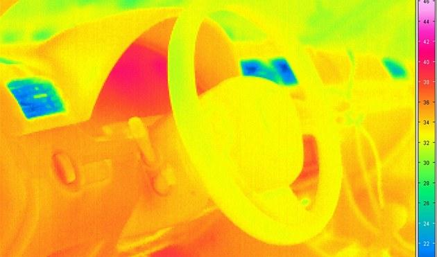 Slunce vyžene koronavirus z auta. Roušku vydezinfikujete na přístrojovce