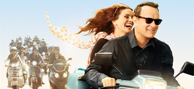 Tom Hanks a Julia Robertsová na plakátu k filmu Larry Crowne