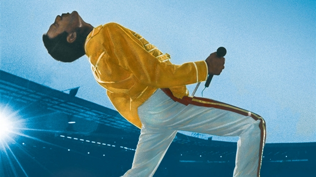 Freddie Mercury na obalu koncertního DVD s názvem Queen: Live at Wembley Stadium