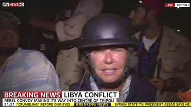 Reportérka SkyNews Alex Crawford