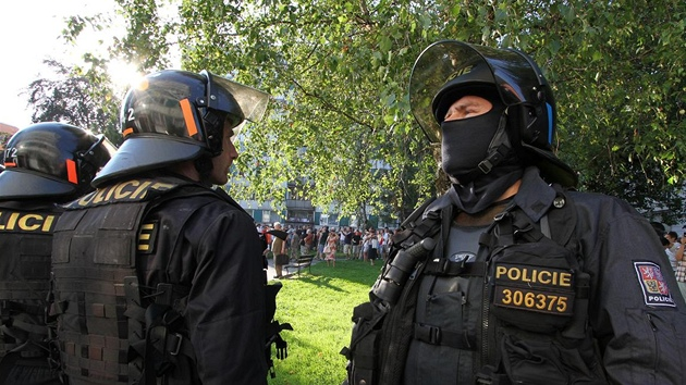 Demonstrace a pochod městem v Rumburku na Šluknovsku