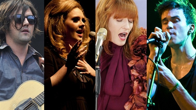Conor Oberst, Adele, Florence Welchová a frontman kapely Charlie Straight