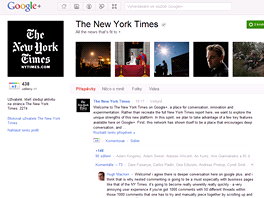 The New York Times na Google Plus