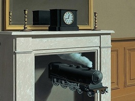 René Magritte: Time Transfixed, 1938
