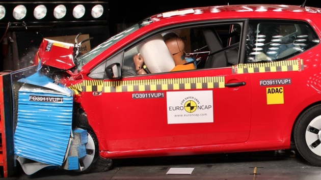 Crash test Volkswagenu Up!