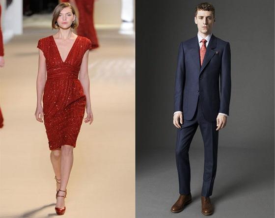 Elegantní rudé šaty s flitry (Elie Saab) užijete i u slavnostní vánoční 8f29192593