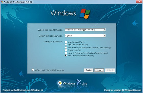 Windows 8 Transformation Pack přebarví vaše Windows XP, Vista či 7 do vizuální