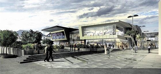 a6fb5f9b57 Takto mělo podle původní vizualizace vypadat nové nákupní centrum ...