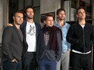 Kapela Take That: Gary Barlow, Howard Donald, Mark Owen, Jason Orange a Robbie...