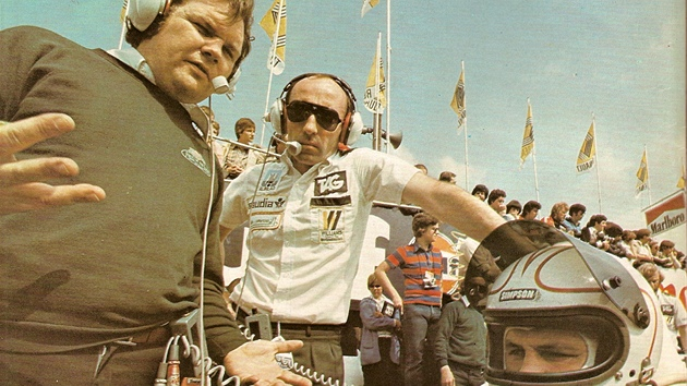 Vítězná sestava roku 1979: Patrick Head, Frank Williams a Alan Jones