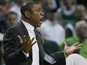 Udivený trenér Doc Rivers z Bostonu Celtics.