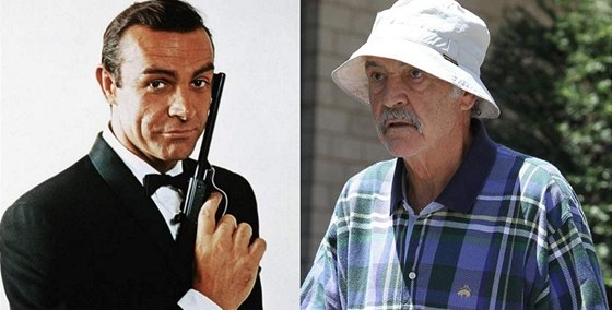 Sean Connery coby James Bond (1963) a v důchodu (2012)