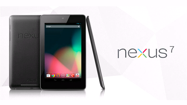 Nexus 7 na sníku z Google Play Store