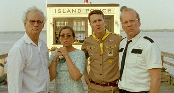 Bill Murray, Frances McDormandová, Edward Norton a Bruce Willis ve filmu