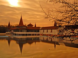 Termální jezero v Hévízu