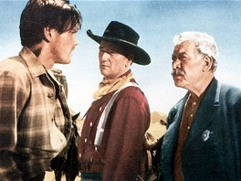 Z filmu Stopaři (zleva Jeffrey Hunter, John Wayne, Ward Bond)