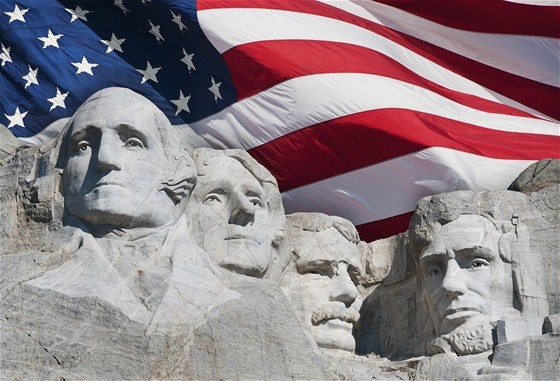 Mount Rushmore: Thomas Jefferson je druhý zleva