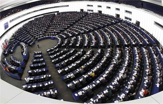 Pohled do Evropského parlamentu ve Štrasburku