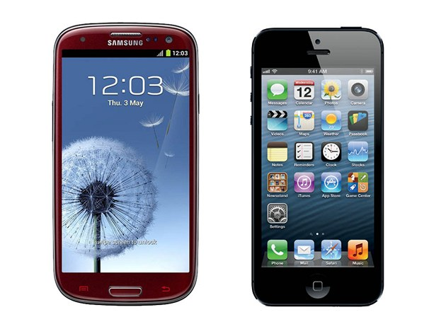 Samsung Galaxy S III a iPhone 5