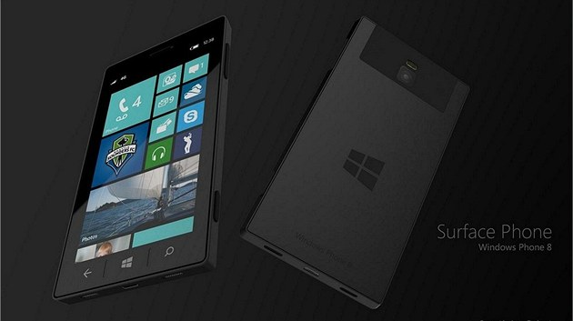 koncept Microsoft Surface Phone