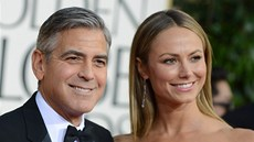 George Clooney a Stacy Keiblerová