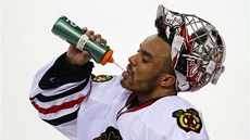 Ray Emery, gólman Chicaga Blackhawks