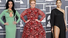 Grammy 2012 - Katy Perry, Adele, Jennifer Lopezová