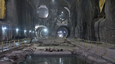 Pohled do tunelů projektu East Access pod stanicí Grand Central