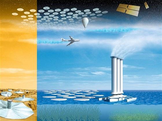 Geoinženýring nenavrhuje jen rozprašování síry do vyšších vrstev atmosféry....