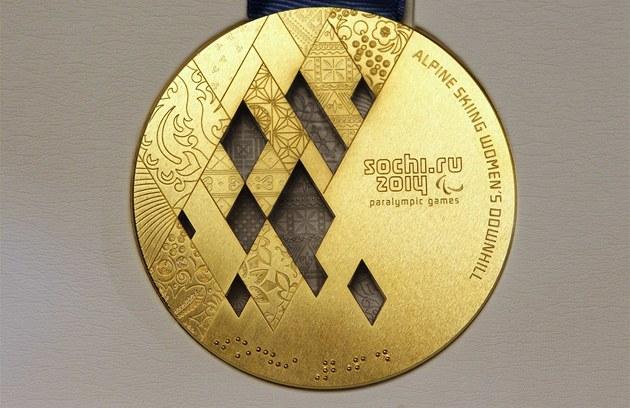 Olympijské hry. Zlatá paralympijská medaile ... c7862c0d58f