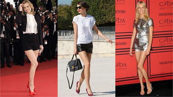b4a48c277de Šortky místo sukně. Inspirujte se slavnými kráskami a ukažte své ...