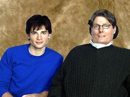 Tom Welling a Christopher Reeve v seriálu Smallville (2002)