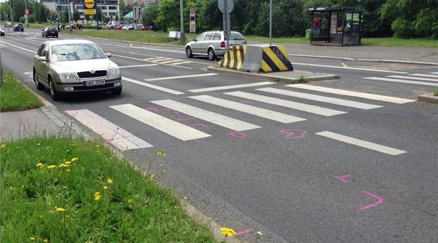 Důchodkyni smetlo na přechodu v Ostravě auto, střet nepřežila