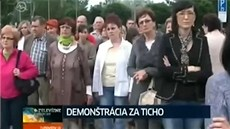 Demonstrace za ticho