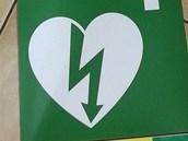 Zelené logo ve tvaru srdce označuje všechna místa, kde je automatický...